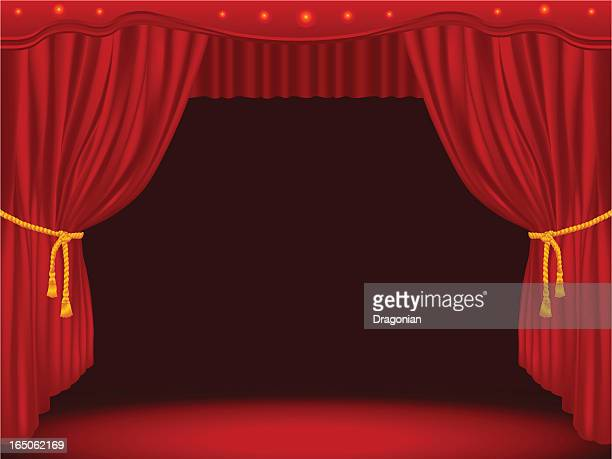 Stage Draped With Curtains (GM)