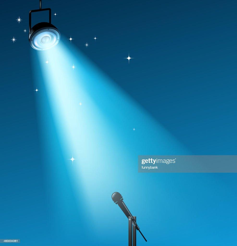 stage lighting : stock illustration