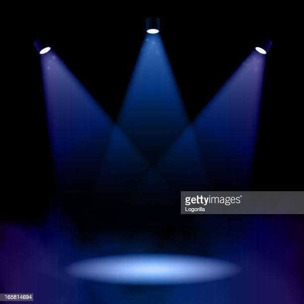 Stage lighting with fog