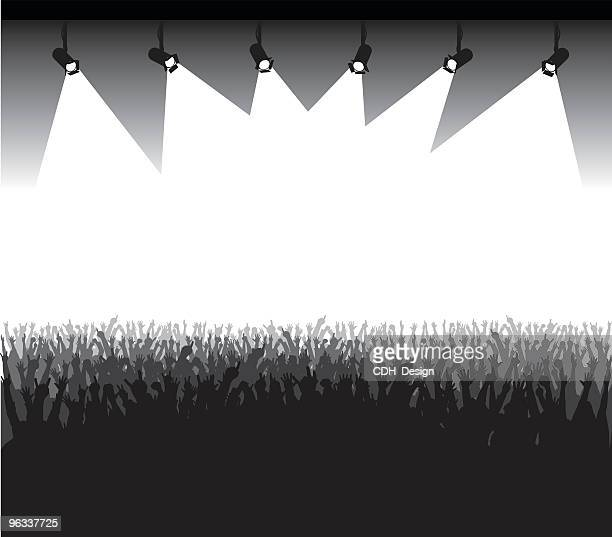 stage presentation - stage light stock illustrations