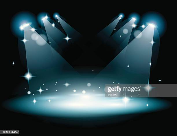 Stage with strobe lights
