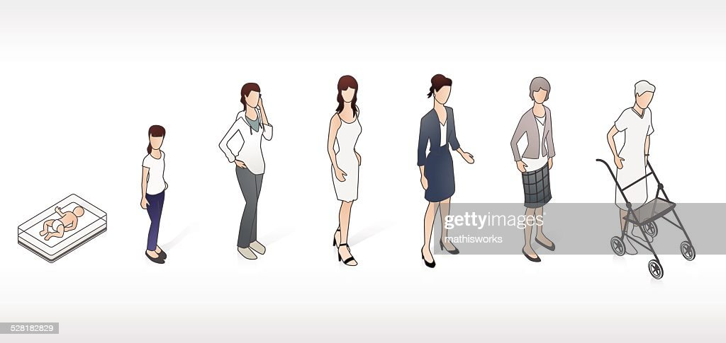 Stages of Life Illustration : stock illustration