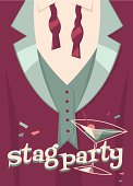 Stag-party card\\poster