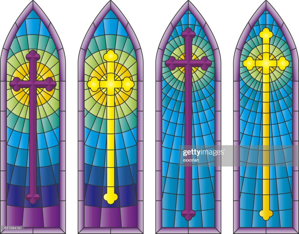 Stained Glass Church Windows Vector Art Getty Images