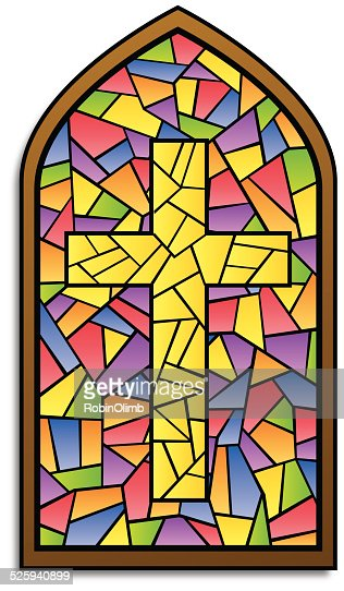Church Stained Glass Illustration