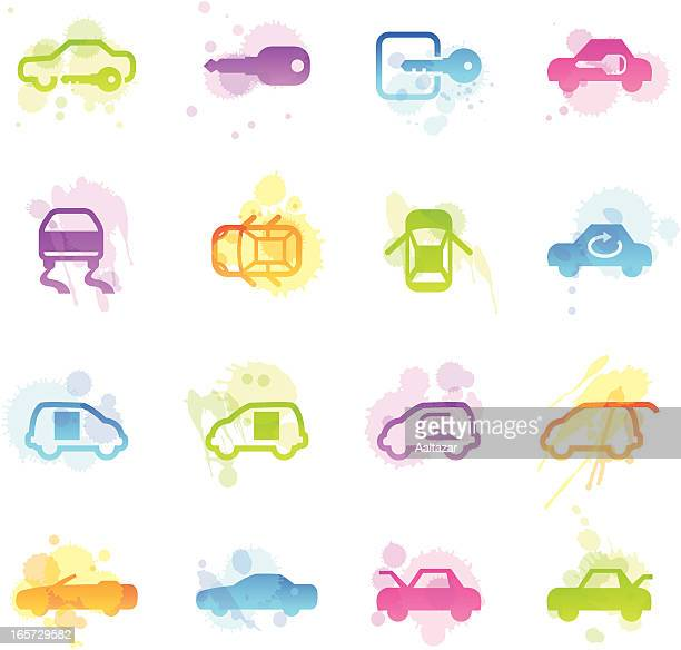 Stains Icons - Car Control Indicators