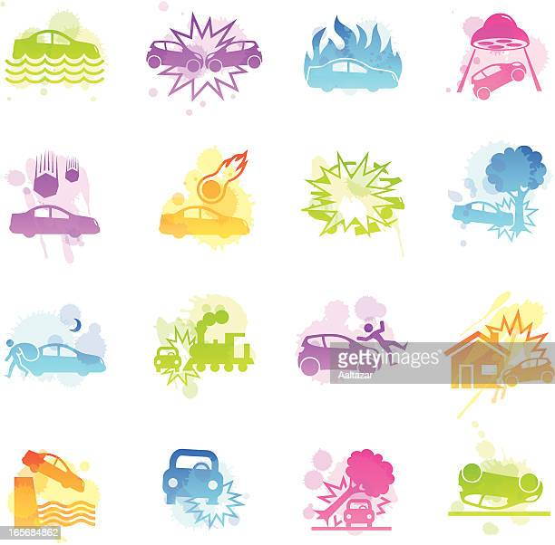 Stains Icons - Car Disaster