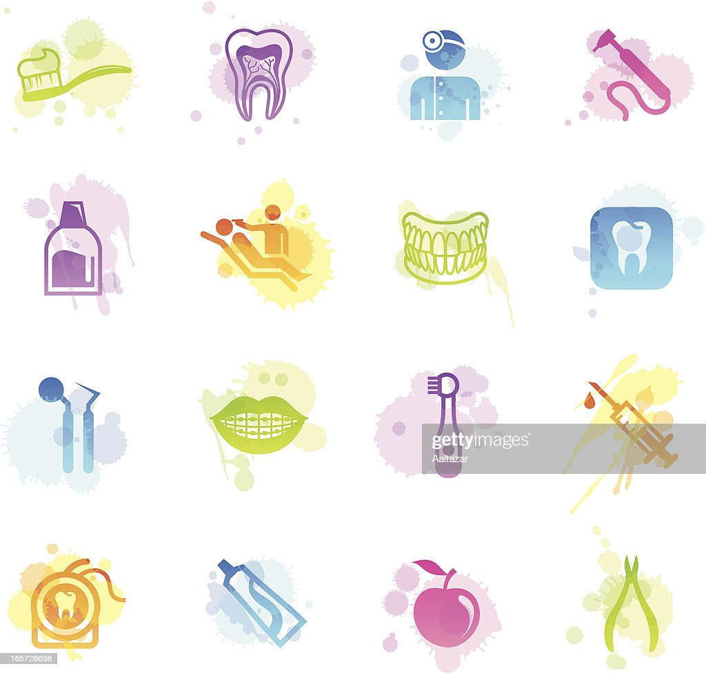 Stains Icons - Dental Care : stock illustration