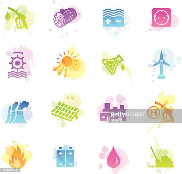 Stains Icons - Energy Sources