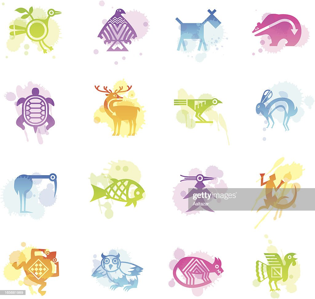 Stains Icons - Indian Tribal Animals