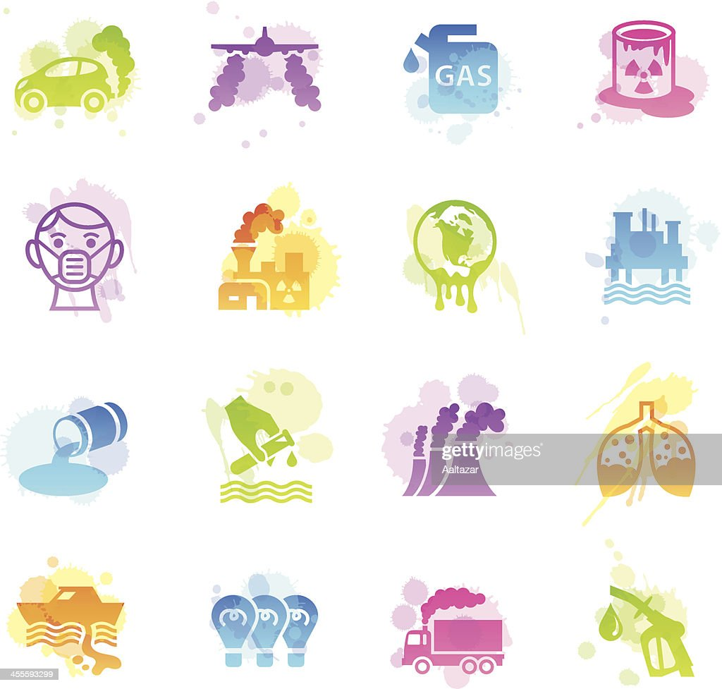 Stains Icons - Pollution : stock illustration