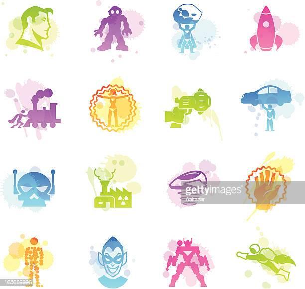 Stains Icons - Superhero