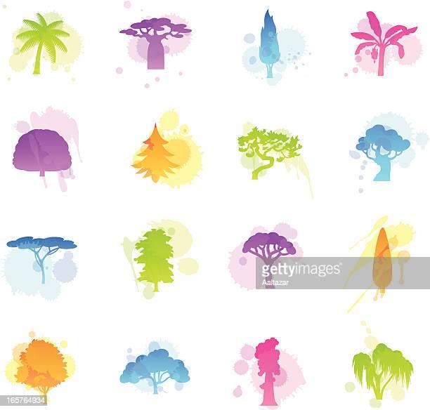 シミのアイコンの木 - アカシア点のイラスト素材/クリップアート素材/マンガ素材/アイコン素材