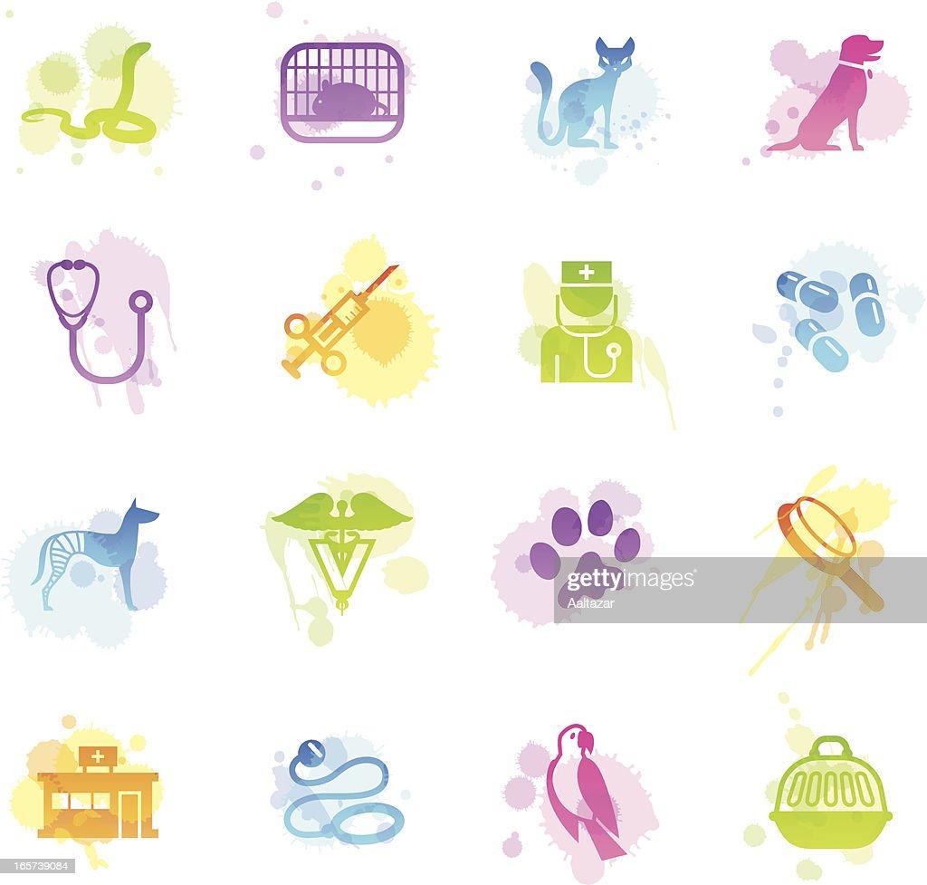 Stains Icons - Veterinary : Stockillustraties