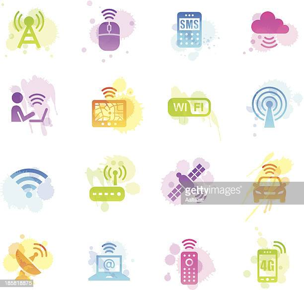 Stains Icons - Wireless Technology