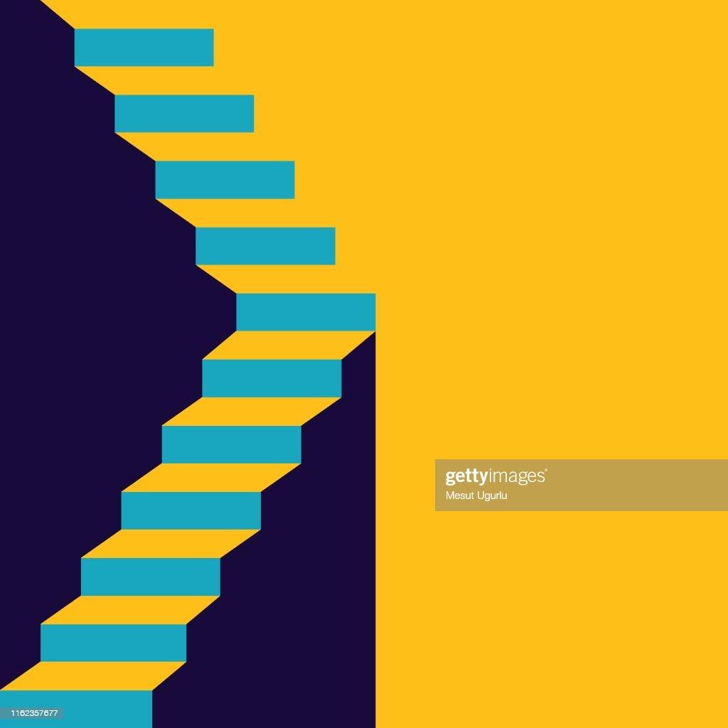 Escalera en arriba : Ilustración de stock