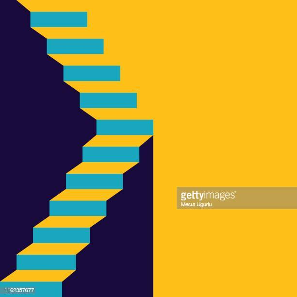 stair in up - success stock illustrations
