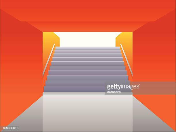staircase going up - corridor stock illustrations, clip art, cartoons, & icons