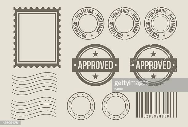 Stamp design elements