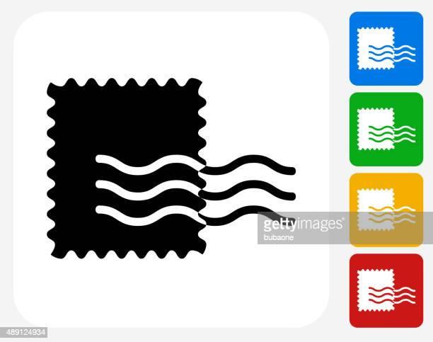 Stamp Icon Flat Graphic Design