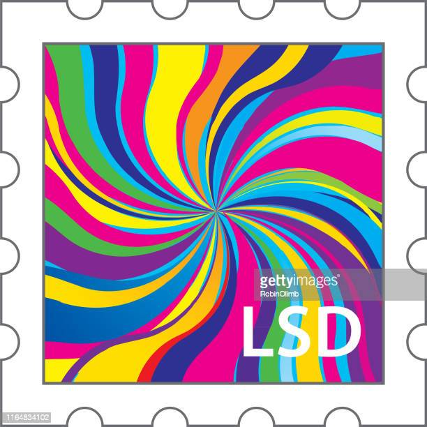 lsd stamp icon - lsd stock illustrations