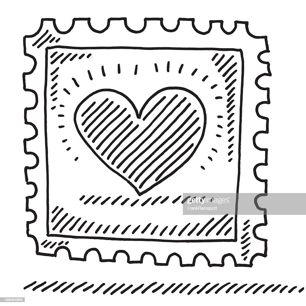 Stamp Love Heart Drawing High Res Vector Graphic Getty Images