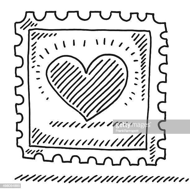 stamp love ハートの描出 - 内陸部の岩柱点のイラスト素材/クリップアート素材/マンガ素材/アイコン素材