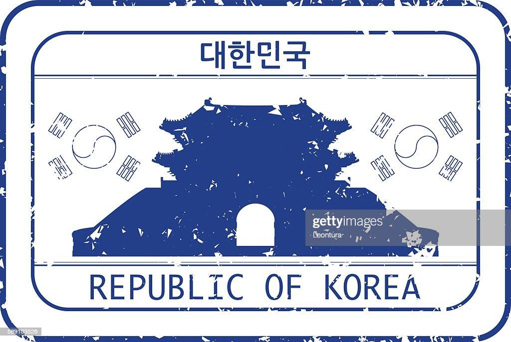 Stamp of Korea : stock illustration