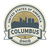 Stamp or label with name of Columbus, Ohio