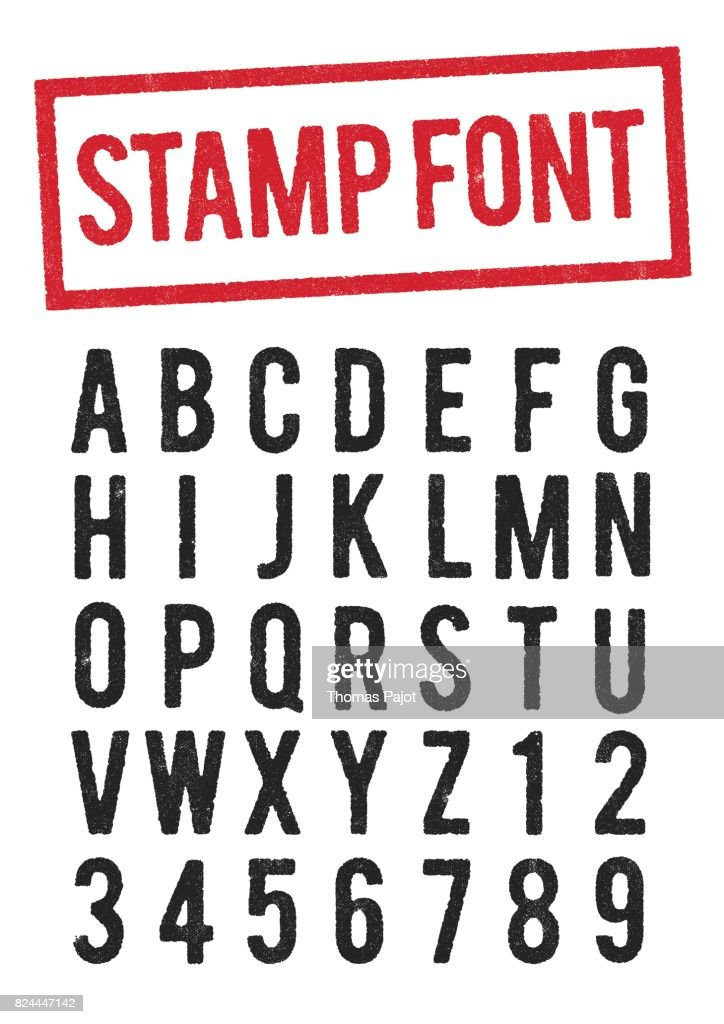 Stamp typeface