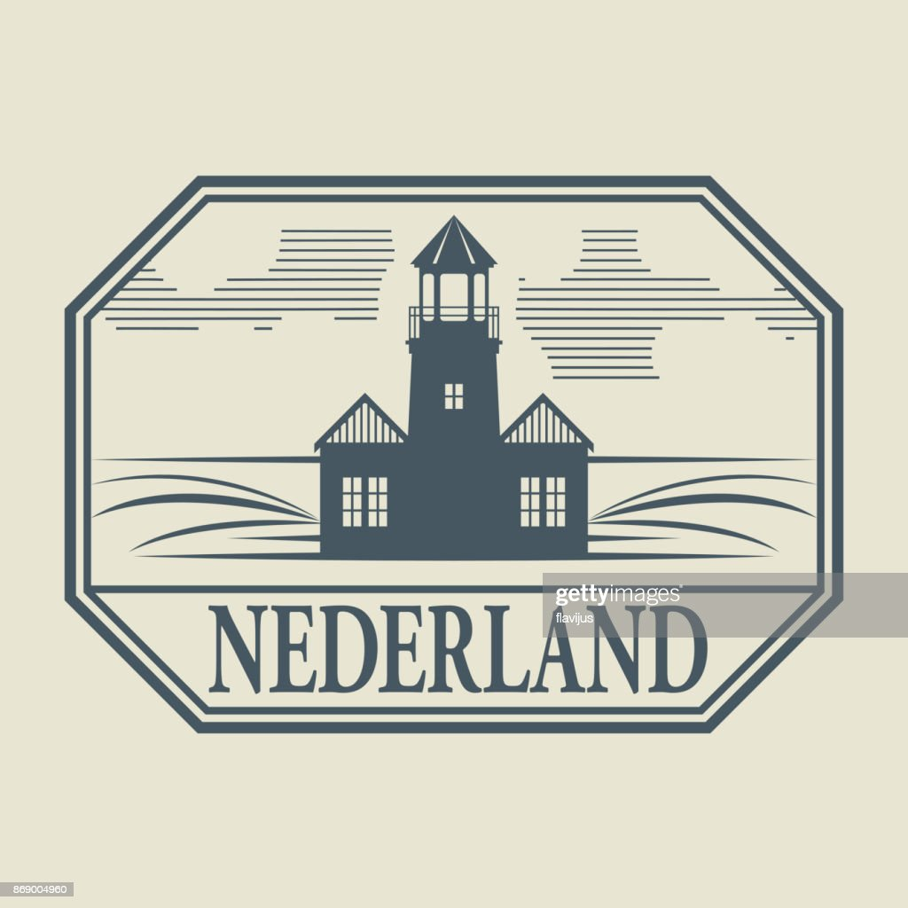 Stamp with Lighthouse, Netherland