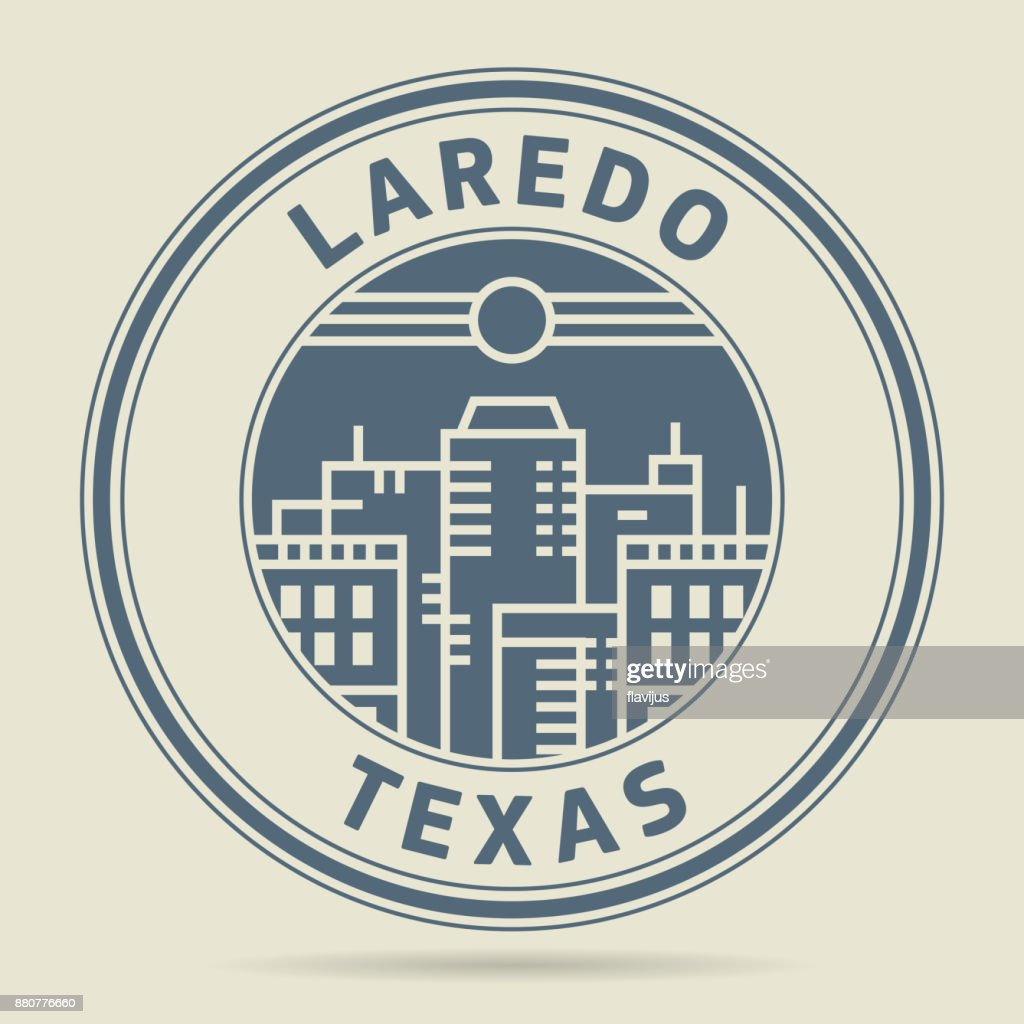 Stamp with text Laredo, Texas