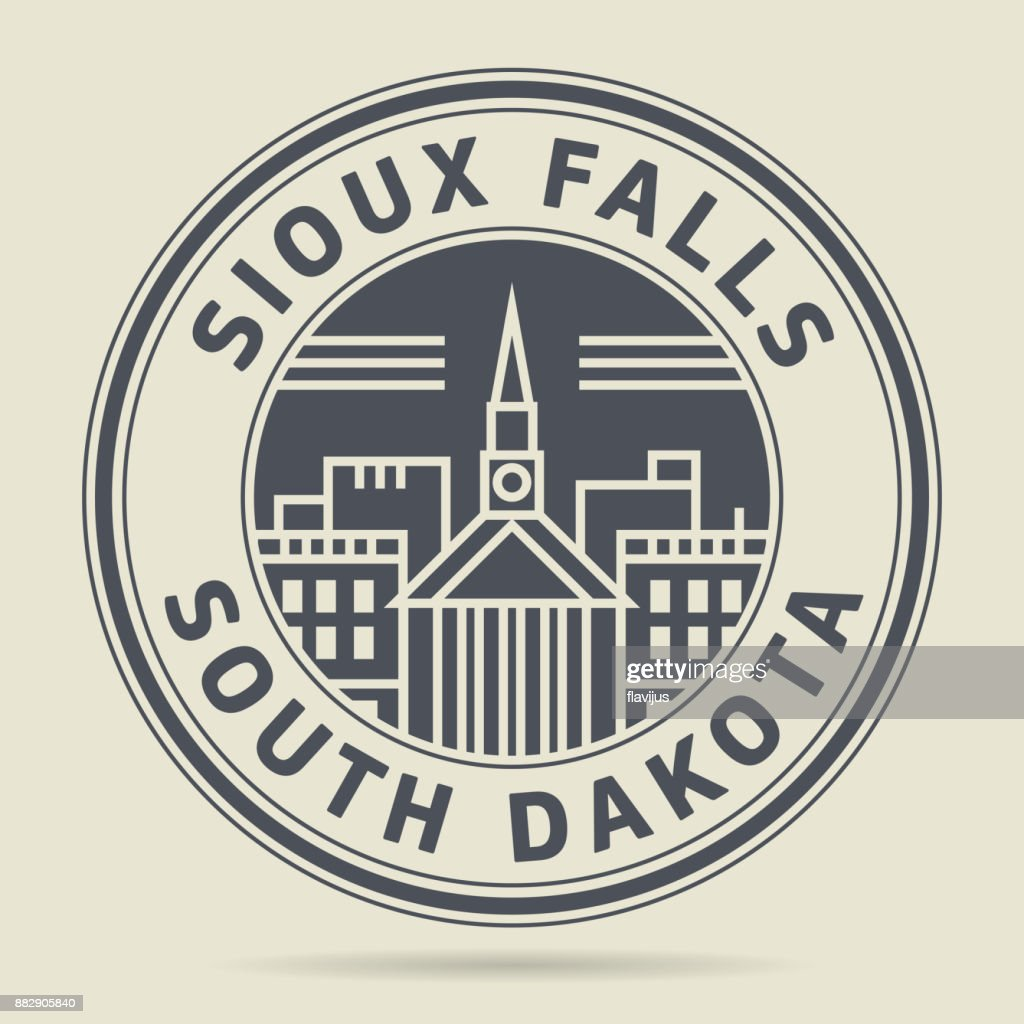 Stamp With Text Sioux Falls South Dakota Vector Art Getty Images
