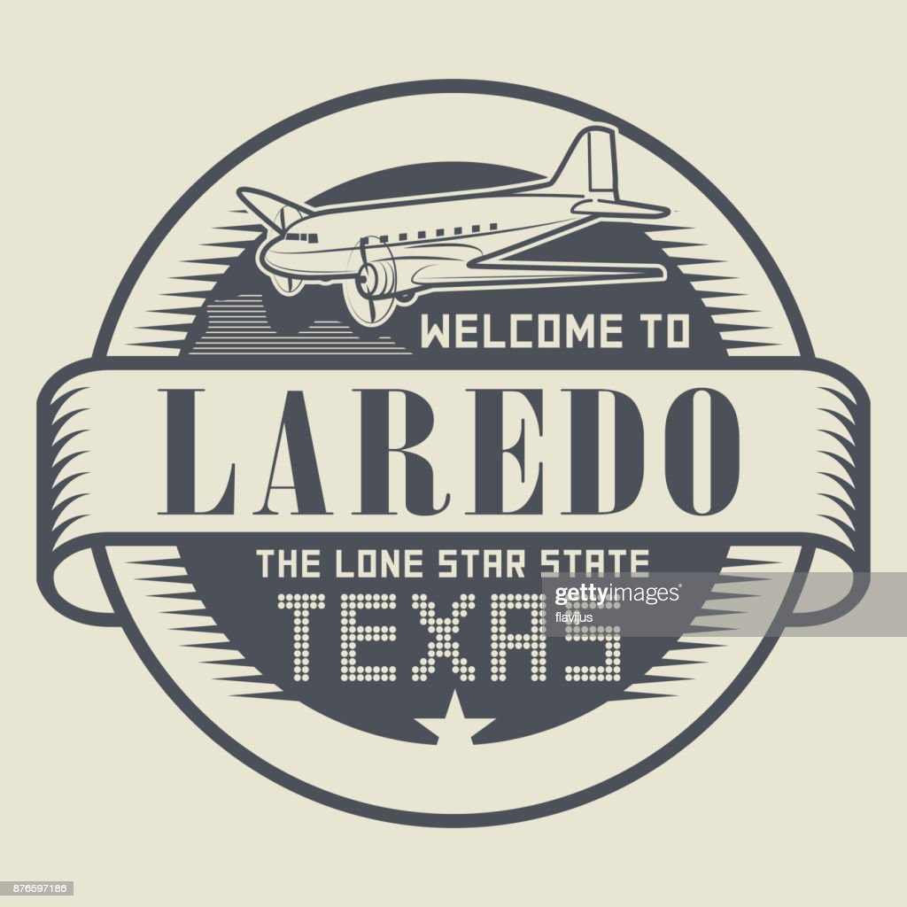 Stamp with text Welcome to Laredo, Texas