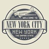 Stamp with text Welcome to New York City, New York