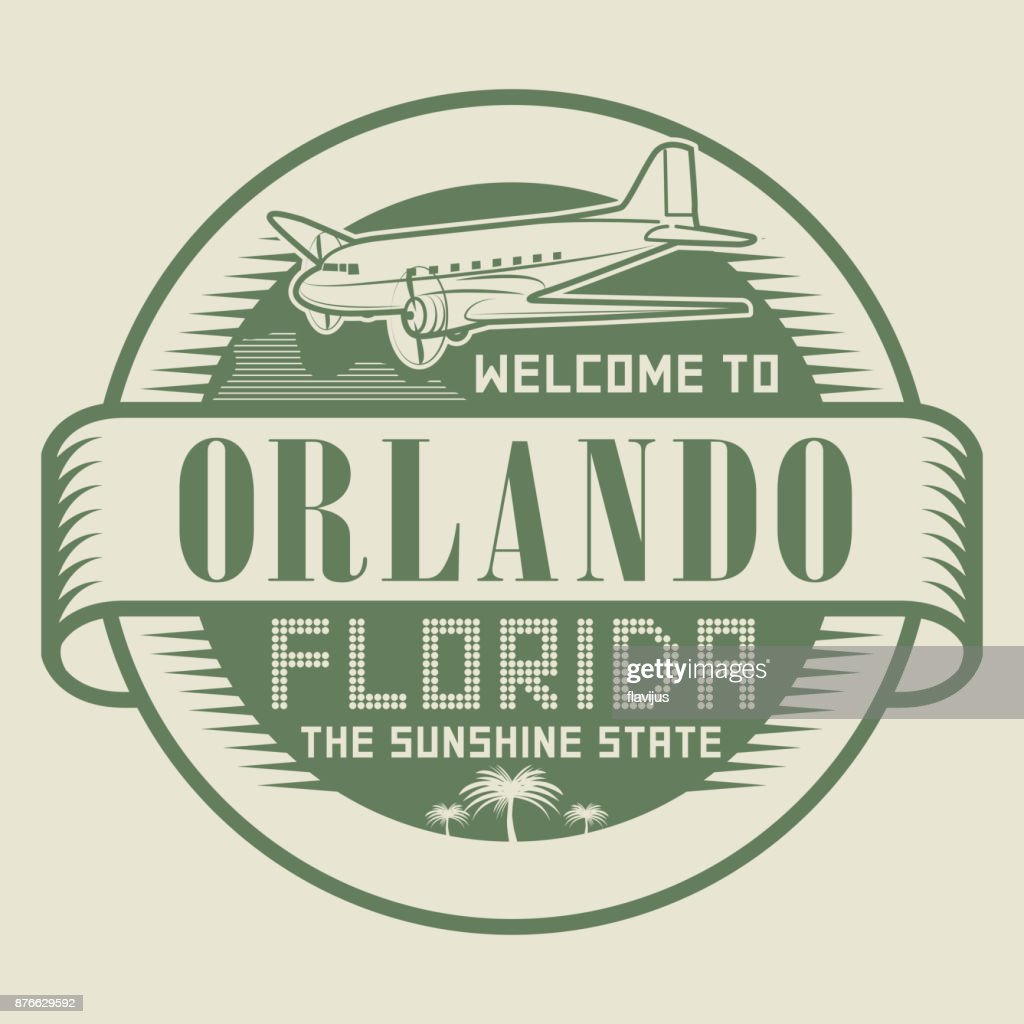 Stamp with text Welcome to Orlando, Florida
