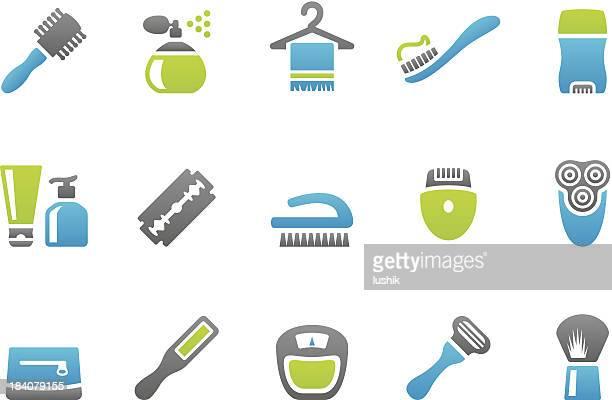 stampico icons - body care - razor blade stock illustrations, clip art, cartoons, & icons