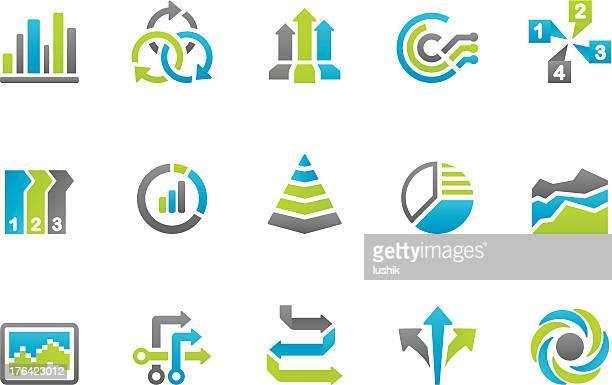 ilustrações, clipart, desenhos animados e ícones de stampico ícones-business infographic - escolha