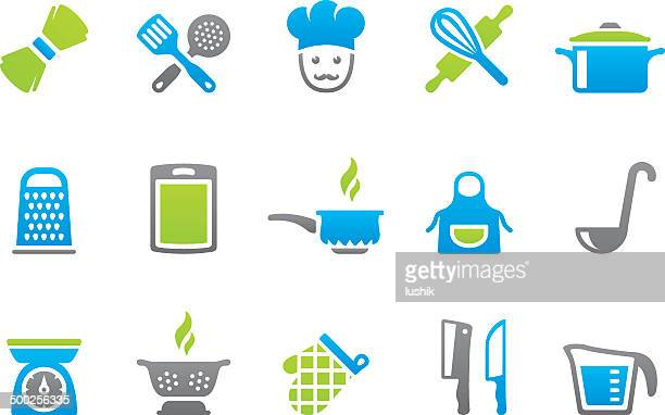 stampico icons - cooking - measuring cup stock illustrations