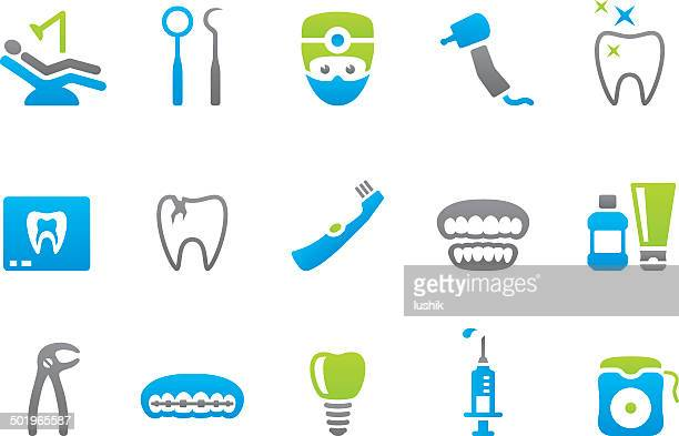 stampico icons - dental - dental drill stock illustrations