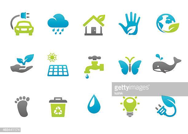 stampico icons - environmental conservation - water conservation stock illustrations