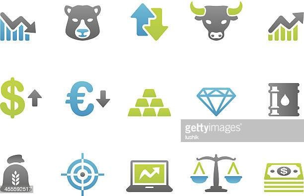 stampico icons - finance and investment - deterioration stock illustrations, clip art, cartoons, & icons