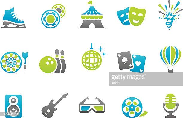 stampico icons - media and entertainment - ice skate stock illustrations, clip art, cartoons, & icons