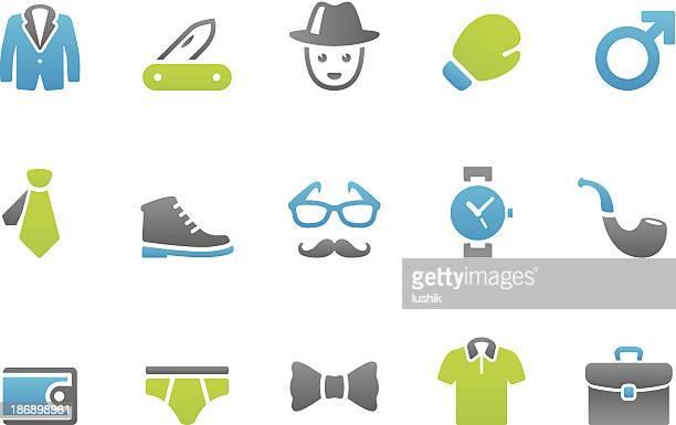 illustrations, cliparts, dessins animés et icônes de stampico icônes-hommes - cravate