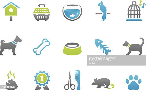 stampico icons - pets - dog bowl stock illustrations, clip art, cartoons, & icons