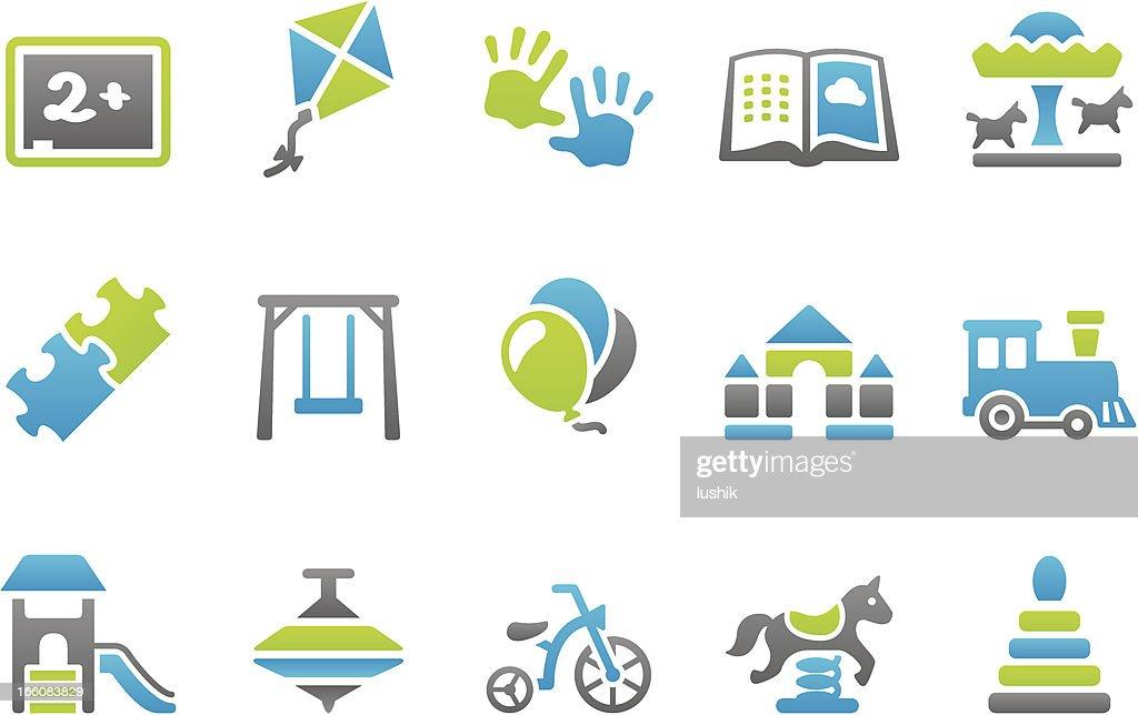 Stampico icons - Preschool : stock illustration