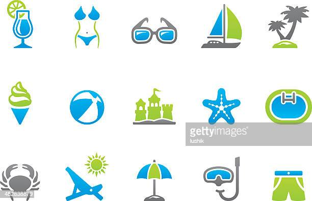 Stampico icons - Summer Vacations