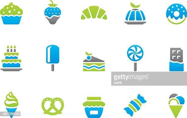 stampico icons - sweet food - gelatin dessert stock illustrations, clip art, cartoons, & icons