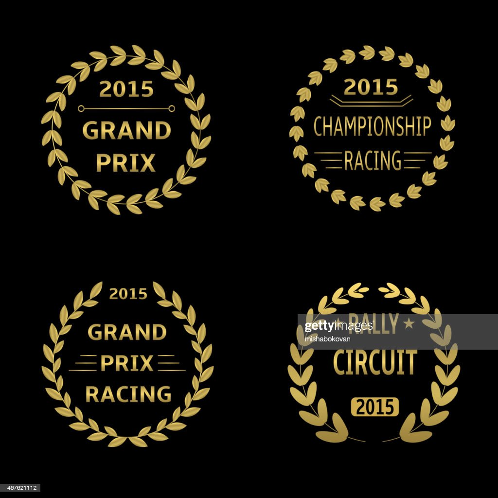 Stamps of 2015 races, rally circuit and grand prix