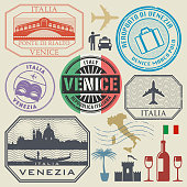Stamps or symbols set Italy, Venice